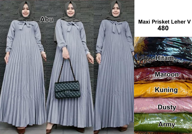 Baju Muslim Busana Muslimah Maxy Gamis Kaftan Dan Hijab Fashion