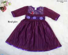 Dress kids venesia ungu