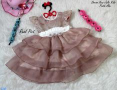 Dress New Julie Kids Putih Abu