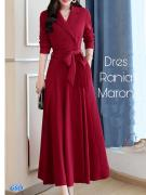 Dress rania maroon