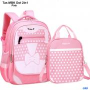 Tas Mbk dot 2in1 pink