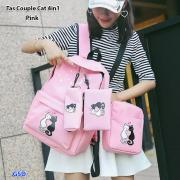 Tas couple cat 4in1 pink