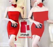 Setelan import 713 red
