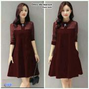 Dress tile maroon-lesti