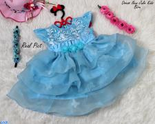 Dress New Julie Kids Biru