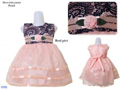 Dress kids jannie peach
