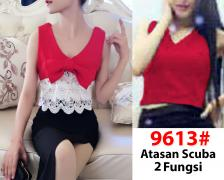 Blouse import 9613 red