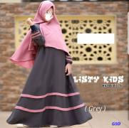 Hijab kids listy grey-hijab kids isti