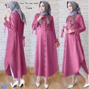 tunik twis flow sablon dusty