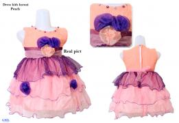 Dress kids haruni peach