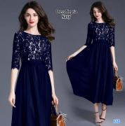 Dress Alegria navy