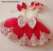 Dress princes kids red