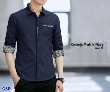 Kemeja matrix navy-man 03