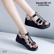 Sandal MC01 coklat bling