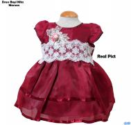 Dress Bayi Nita Maroon