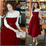 Dress Kori Maroon