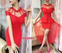 Mini dress import 88269 red