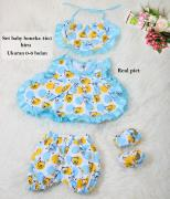 Set bayi boneka 4in1 biru