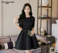 Dress Ribbon Angela hitam