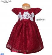 Dress Kids Paula Maroon