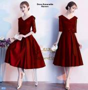Dress esmeralda maroon