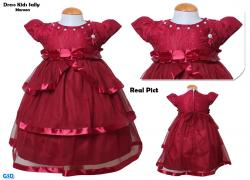 Dress Kids sally maroon