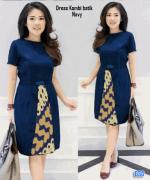 Dress kombi batik navy