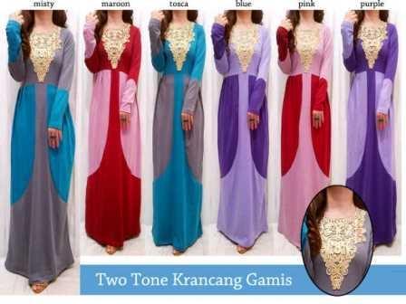 Two Tone Gamis Grosir Tanah Abang Baju Import Online