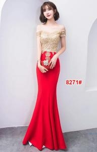 Longdress import 8271 krem