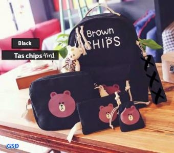 Tas chips 4in1 black