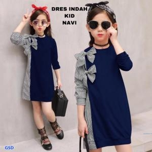 Dress  indah salur  kids maroon