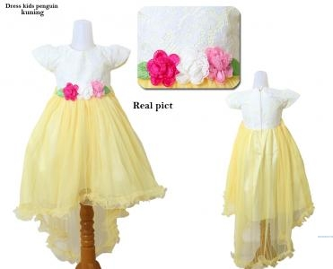Dress kids penguin kuning
