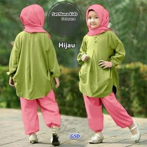 Set nuna kids hijau-set nana