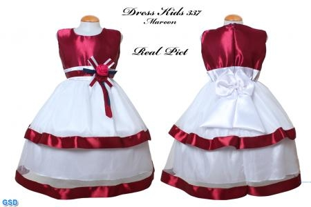 Dress Kids 337 maroon