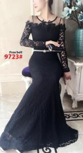 Longdress import 9723 hijau