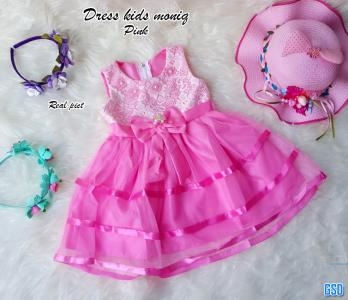 Dress kids moniq soft pink