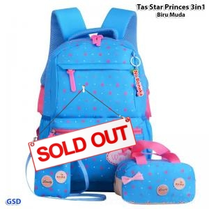 Tas star princes 3in1 biru muda